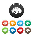 brainstorming icon simple style vector image vector image