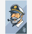 captain mascot design vector image vector image