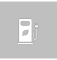 car charging station computer symbol vector image