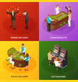 casino isometric concept design vector image