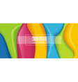 color layers in abstract shape background vector image vector image
