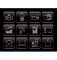 communication and business icons vector image vector image