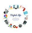 digital art design icons circle concept vector image