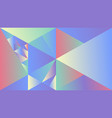 dynamic colorful polygonal geometric gradient vector image vector image