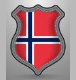 flag of norway badge and icon vector image vector image