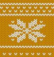 Flat knitting seamless pattern vector image vector image