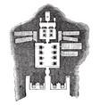 floor plan great temple abu simbel vintage vector image vector image