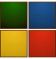 Frames in four colors vector image vector image