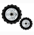 front and rear tractor wheels vector image vector image