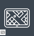 gps navigation icon vector image