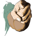 hand show you vector image vector image
