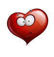 Heart Faces Happy Emoticons Smirk vector image vector image