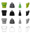 isolated object of cleaning and service icon set vector image vector image