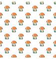 kids toy mushroom pattern seamless vector image