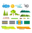 Landscape constructor icons set vector image