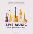 live music festival banner with classical musical vector image vector image