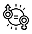 male female marks icon outline vector image vector image
