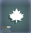 Maple leaf icon On the blue-green abstract vector image