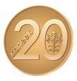 Modern Belarusissian coin reverse vector image
