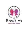 modern bow tie logo vector image
