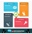Modern bubble banner infographic design vector image