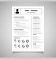 modern resume cv form of black color you can use vector image