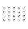 modern scientific website and mobile icons vector image vector image