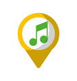 music social media round pointer we vector image