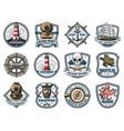 nautical heraldry marine isolated icons vector image vector image