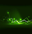 neon lightning background vector image vector image