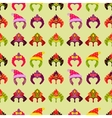 New year 2015 seamless pattern with monkey mask vector image vector image