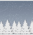 paper art christmas winter season and christmas vector image