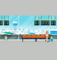 passengers waiting to board plane vector image