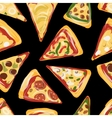 Pieces of pizza seamless pattern for your design vector image