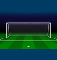 realistic football goal vector image