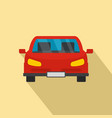red front car icon flat style vector image