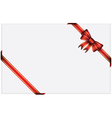 Red gift bow with ribbons vector image