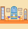 restaurant or dining room interiordining table vector image vector image