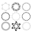round decorative frames - set vector image