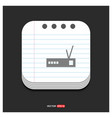 router icon gray icon on notepad style template vector image
