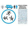 Running Men Icon with 1000 Medical Business vector image vector image