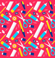 school supplies icon set seamless pattern design vector image