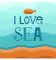 Sea background with fish vector image vector image