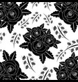seamless pattern flowers leaves branch decoration vector image vector image