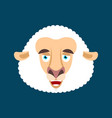 sheep happy emotion face avatar ewe merryl emoji vector image vector image