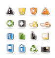 simple web site and computer icons vector image vector image