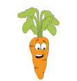 smiling carrot character isolated on white vector image