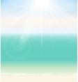 Summer Time Seaside Background vector image vector image