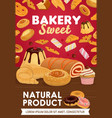 sweets desserts and patisserie pastry vector image