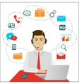 Time 24 customer support center operator vector image
